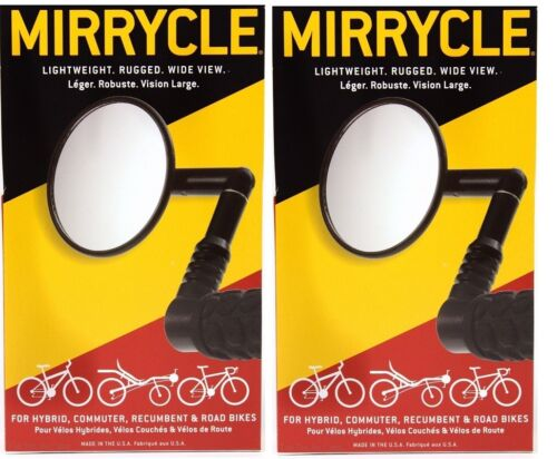 Two (2) Pack  Mountain Mirrycle® Bicycle Handlebar Mirror - Wide View 3""