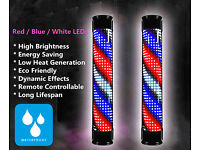 20W Bright High Power Waterproof Professional Barber Sign Pole Led Light With Remote Control Salon