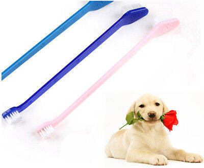New 3x Dog Cat Dental Toothbrush Dual End Oral Care Tooth Brush Hygiene Pet