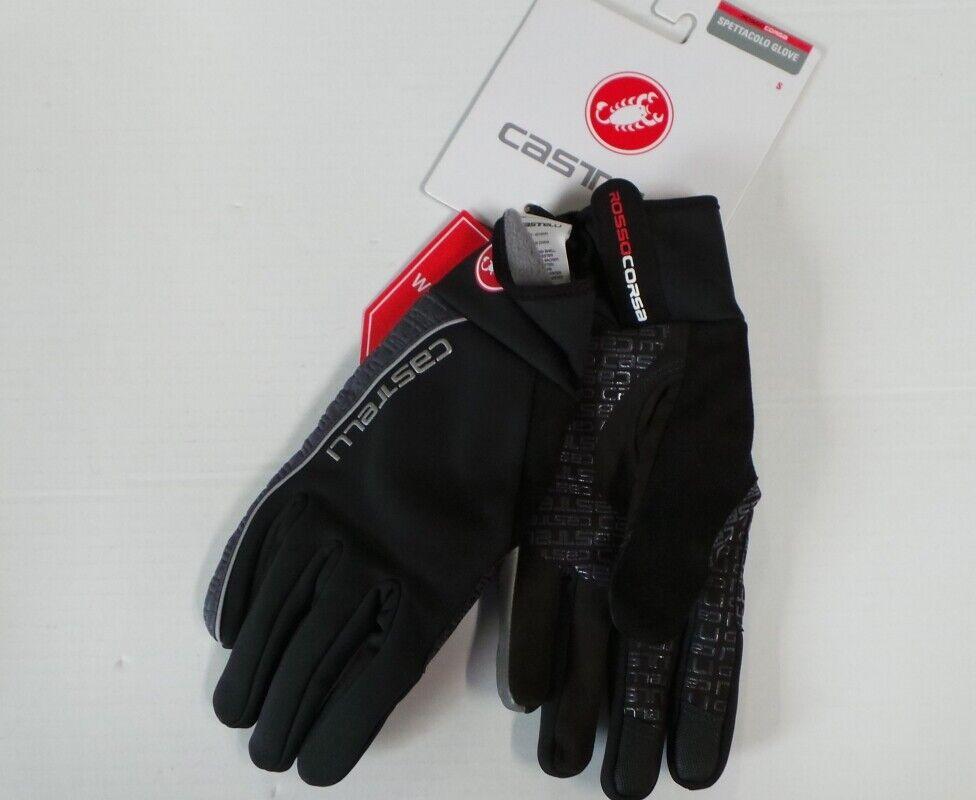 Castelli Spettacolo Unisex Gloves, Size S Black/Red