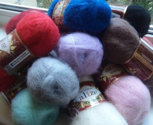 Yarn Alize Kid Royal mohair yarn wool blend yarn angora goat yarn кid mohair
