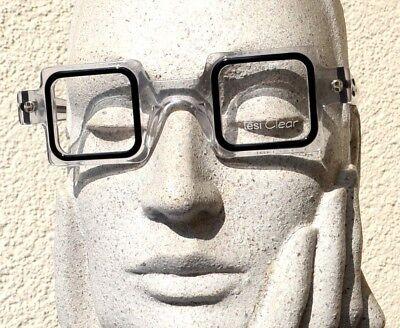 tesi Clear Brille 126 01 Crazy Art Designer Eye Frame clear black Quadrat Italy