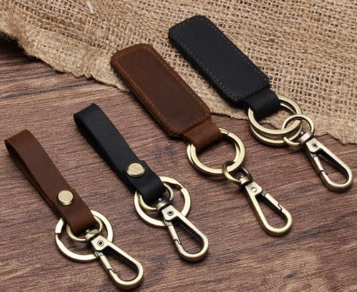 Leather Key Holder Key Ring Keychain Handmade Key Chain Belt Loop Accessories
