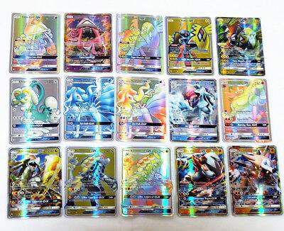 New Latest TCG 140PCS Pokemon Cards Bulk Lot Rare MEGA + GX Card Flash No Repeat