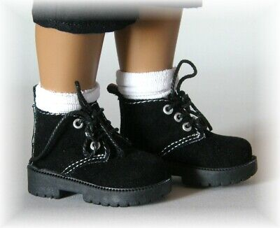 Sasha Dolls - Black Suede Boots - The Doll Works