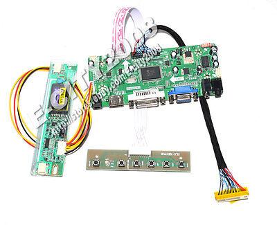 VGA+DVI+HDMI+AUDIO+IR LCD Controller Board for LP171WP7 TLB1/TLA4/TLA3//TLA1 Dvi-hdmi-audio -
