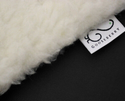 PRAM STROLLER SEAT LINER GOOSEBERRY Lamb Wool Universal Machine Washable Black