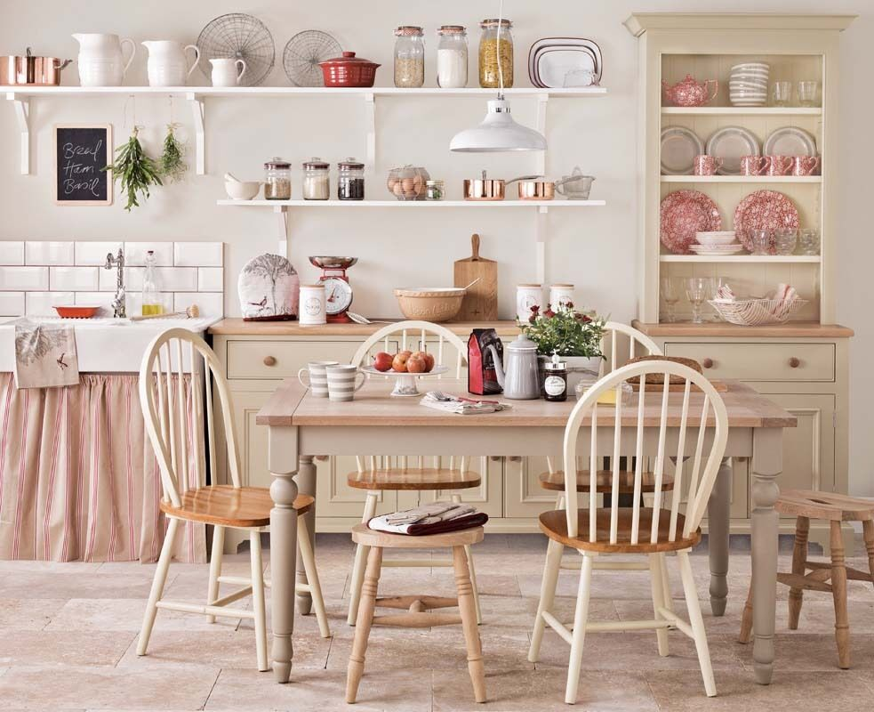 Pink Shabby Chic Country Kitchen