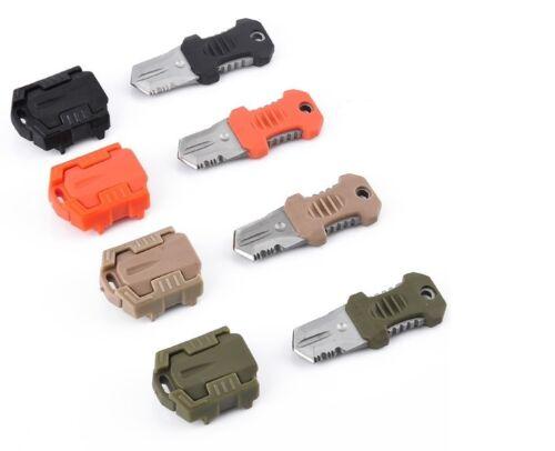 Mini Multifunction EDC Self Defense Survival Tool Knife Pocket Molle Webbing