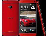 NEW HTC One M7 - 32GB - Red (Unlocked) Smartphone PHONE