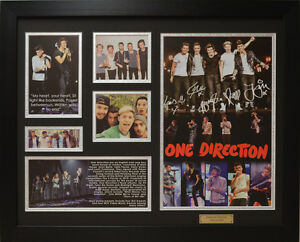 One Direction Limited Edition Signed  Framed Memorabilia (B)