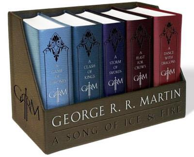 Game Of Thrones By George Rr Martin Leather Bound Editions Boxed Set Books 1 5