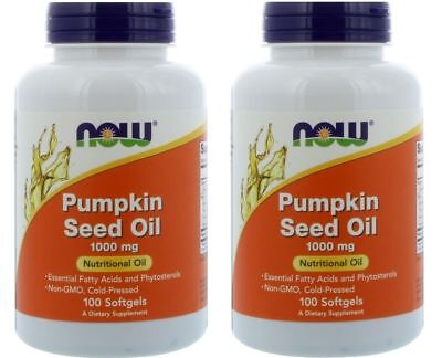 (Now Foods - Pumpkin Seed Oil, 1000 mg, 100 Softgels - 2 Packs)