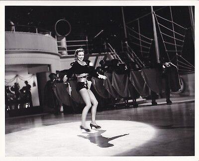 ELEANOR POWELL Original CANDID Studio Set Vintage SHIP AHOY MGM Leggy DBW Photo