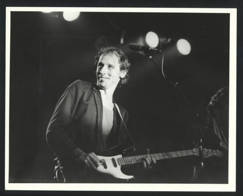 1980s DIRE STRAITS On Stage Vintage Original Photo BRITISH ROCK BAND gp