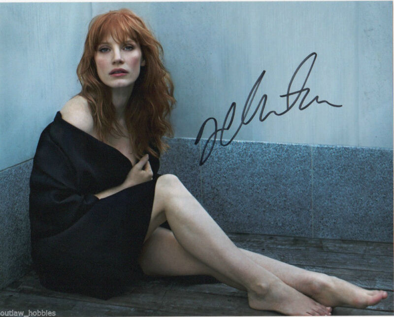 Jessica Chastain Sexy Autographed Signed 8x10 Photo COA #2