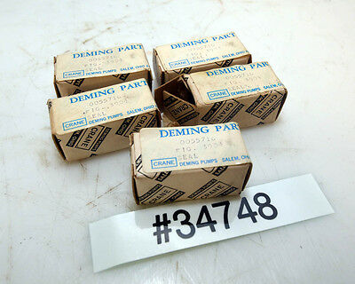 Lot Of Five Deming 0055716 Pump Seals Inv.34748