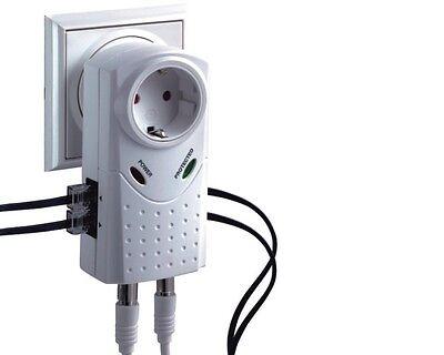 Blitzschutz Überspannungsschutz für DSL Internet Router Telefon TV >All in One<