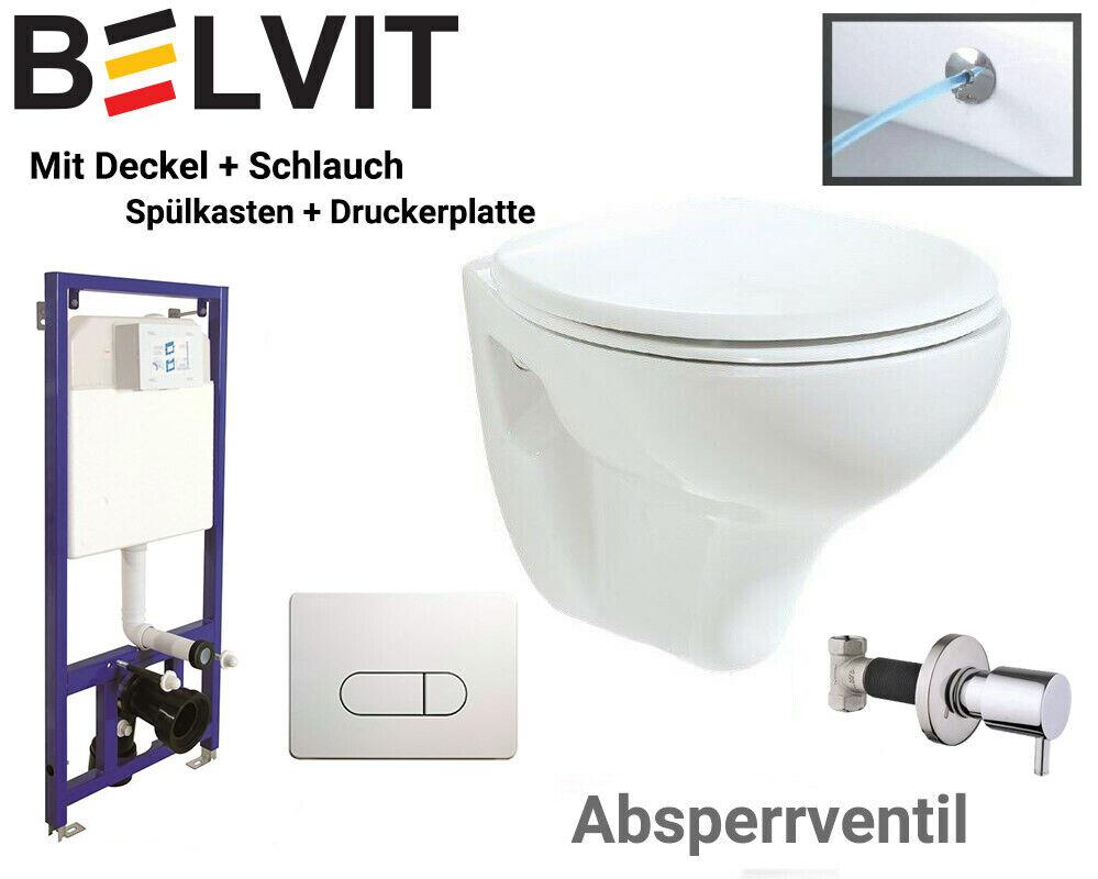 Hänge Dusch WC Taharet Bidet Toilette Vorwandelement Spülkasten Ventil Belvit