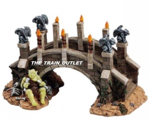 RARE Lemax Spooky Town Troll Bridge #53519 halloween RETIRED NEW IN BOX B1