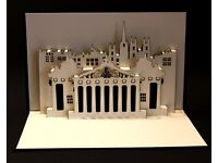 One time business opportunity Edinburgh Festival handmade pop-up cards Edinburgh Landmarks