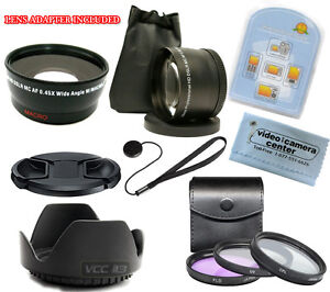 Wide-Angle-w-Macro-Telephoto-Lens-3-Filter-Hood-for-CANON-PowerShot-SX40-HS