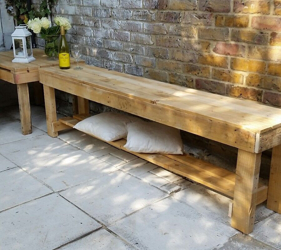 Rusty Long Bench Tv Bench Garden Bench Hand Made From