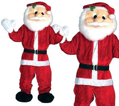 Erwachsene Riesig Großer Kopf Weihnachtsmann Maskottchen Kostüm - Weihnachtsmann Maskottchen Kostüme