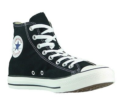 CONVERSE Unisex All Star Chuck Taylor High Top Black Athletic Shoes Canvas M9160