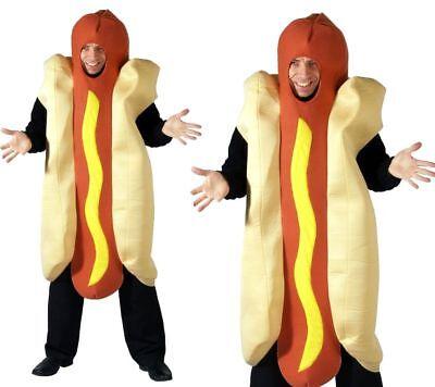 Hot Dog Herren Verkleidung Kostüm Neuheit Spaß Junggesellenabschied Outfit OS