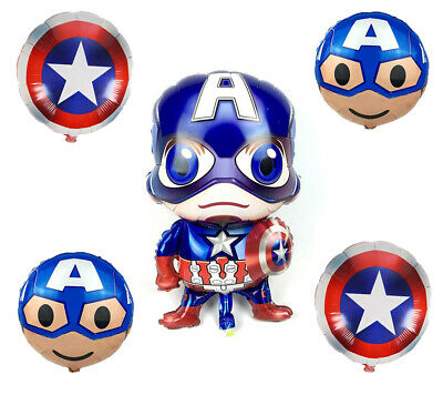 Captain America Decorations (Avengers Captain America Birthday Party Decorations, Balloons Backdrop)