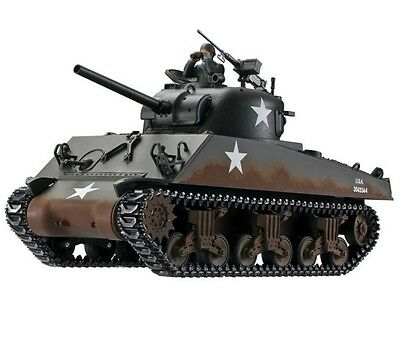 1:16 Taigen RC M4A3 Sherman Battle Tank Smoke & Sound 2.4GHz Metal Edition New