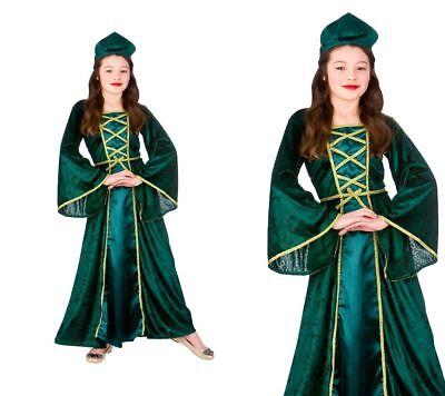 Kinder Tudor Prinzessin Kostüm Mädchen Buchwoche Mittelalterliche Königin - Kostüm Mädchen Buch Woche