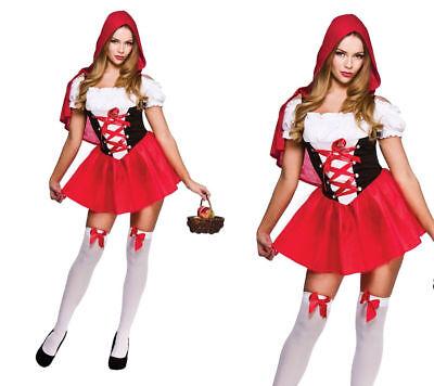 World book Day Ladies Halloween Little Red Riding Hood Fancy Dress UK 6-20 (Halloween Kostüme Sf)