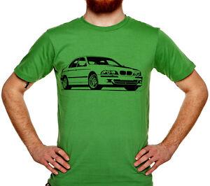 Auto-T-shirt-BMW-M5-2002-E39-sport-V8-Geschenk-fur-Mann-M-Power-Cotton-Size-033