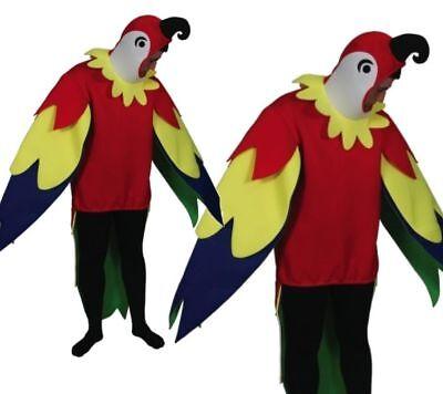 Erwachsene Polly Papagei Vogel Tierkostüm Junggesellen Do Unisex Neuheit (Junge Vogel Kostüm)