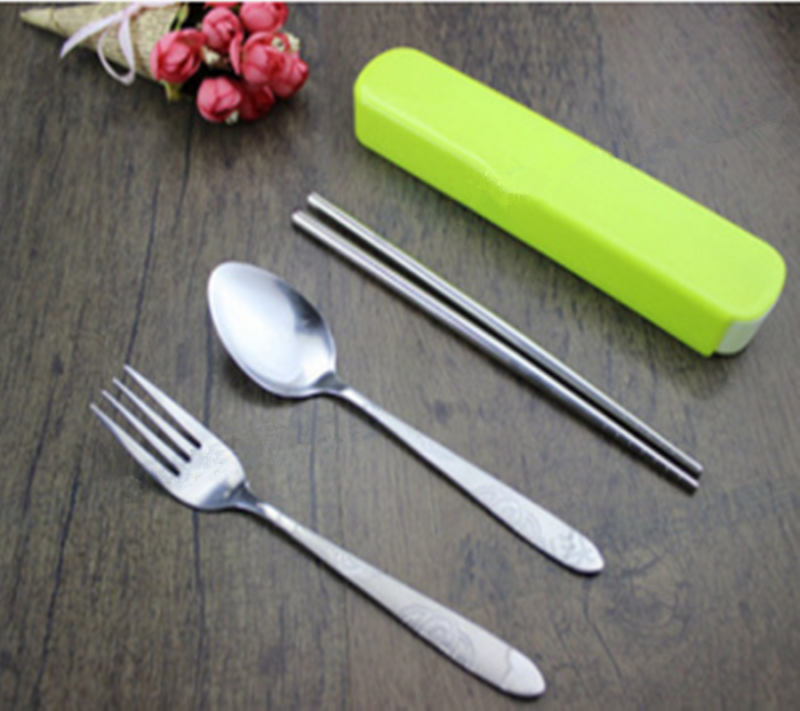 Folding Spoon Outdoor Camping Picnic Stainless Steel Cutlery Set Fork Z