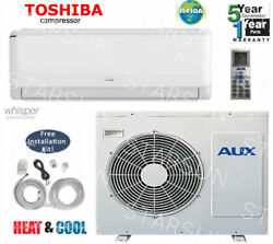 12,000 BTU  Ductless Air Conditioner, Heat Pump Mini split 110V 1 Ton With/K