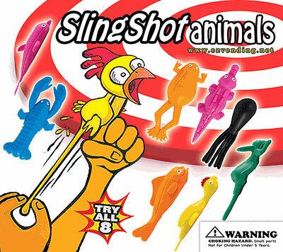 250 Pcs Vending Machine 0.500.75 Capsule Toys - Sling Shot Animals
