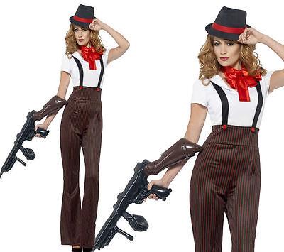 Damen Glam Gangster Kostüm Verkleidung Erwachsene 1920er Jahre Gatsby 20er Party