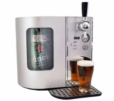Silver Beer Tap Keg Fridge Refrigerator - 5 Litre Raymond Terrace Port Stephens Area Preview