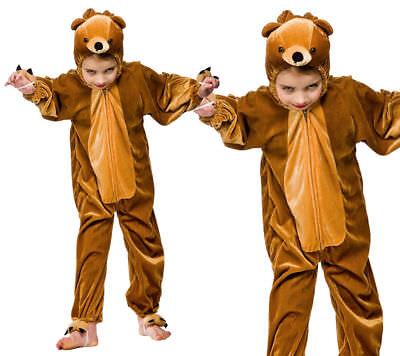 Bär Kostüm Kinder Jungen Mädchen Büchertag Goldlöckchen & Drei Bärenmuster ()