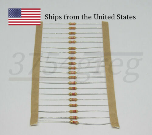 1/4 Watt Resistor - 5% Tolerance - Choose Resistance - Cut Tape - 20 Pack