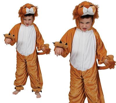 Kinder Löwe Kostüm Zoo Tier Katze Kostüm Outfit Kinder Mädchen Jungen Neu Kinder