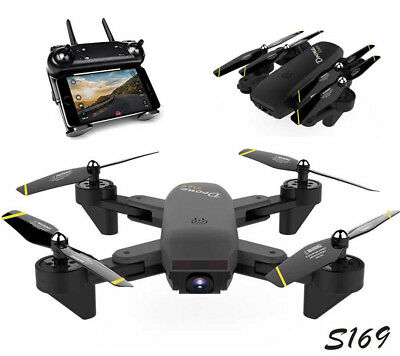 S169 Wifi FPV Optical Overflow Selfie Drone RC Quadcopter Dual HD Camera Drone