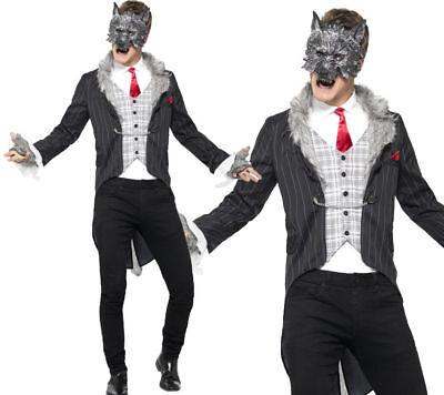 Big Bad Wolf Costume Mens Halloween Fancy Dress Outfit Deluxe Fairytale - Deluxe Big Bad Wolf Kostüm