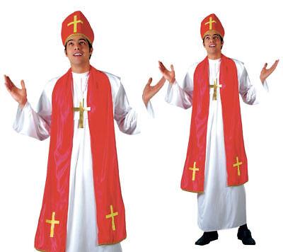 Herren Bishop Heilige Kardinal Pope Priester Religiöse Kostüm Kleid Outfit Neu