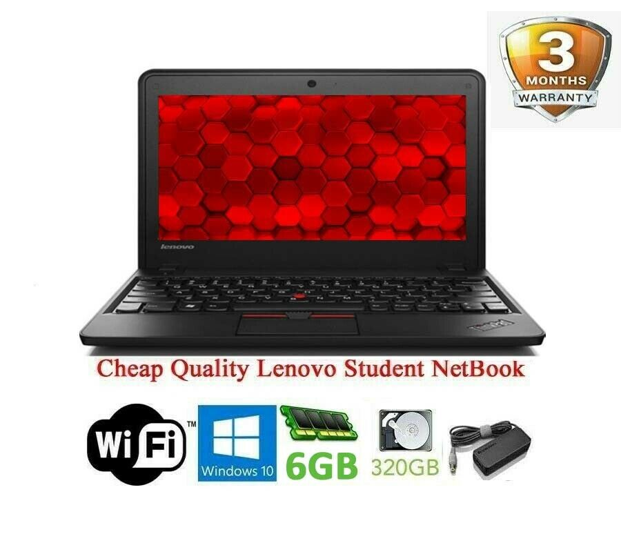 Laptop Windows - Cheap Lenovo ThinkPad Windows 10 Student Netbook LAPTOP 6GB 320GB WiFi HDMI