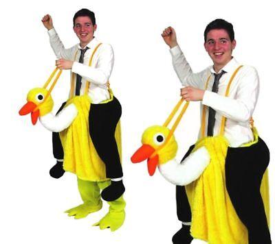 Verrückt darauf Reiten Strauß Pantomime Emu Maskottchen Erwachsene Kostüm Outfit
