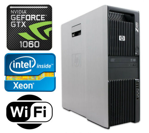 Hp Z600 Gaming Computer Pc 8 Cores 2.93ghz Gtx1060 12gb Ram 128gb Ssd+1tb Win10